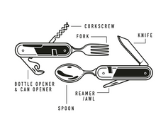 Load image into Gallery viewer, Gentlemen's Hardware: Camping Cutlery Tool
