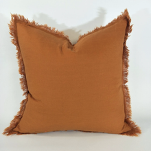 Load image into Gallery viewer, French Linen Fringe Cushion