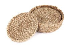 Load image into Gallery viewer, Jute Coaster Set 4