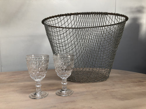 Large Indian Iron Basket