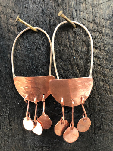 Bojangles Copper Earrings