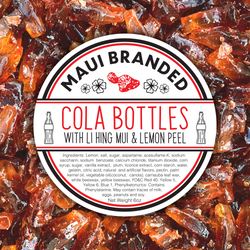 NEW PRODUCT!!! Maui Branded | 6oz. Cola Bottle Gummies w/ Lihing-Lemon Peel