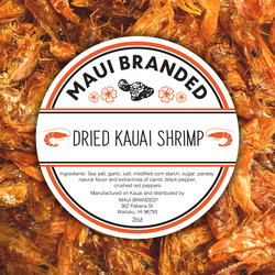 NEW PRODUCT!!! Maui Branded | 2oz. Dried Kauai Shrimp