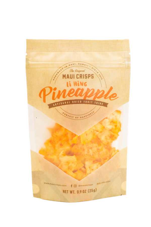 LI HING PINEAPPLE CRISPS .9 OZ