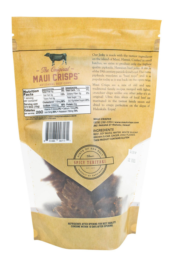 Spicy Teriyaki Maui Crisps  | 2.5 oz