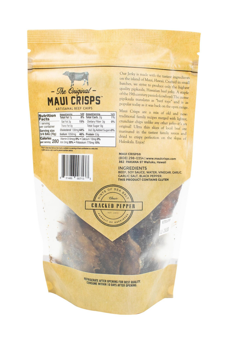Cracked Pepper Maui Crisps | 2.5 oz