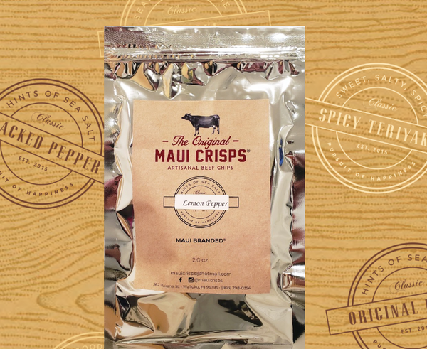 NEW PRODUCT!!! Grass-Fed Lemon Pepper Maui Crisps | 2 oz.