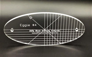 "Eggie #4 - 1/4"" or 1/8"" Thick Clear Acrylic - Oval Ruler"