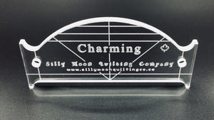 "Charming - 1/4"" or 1/8"" Thick Clear Acrylic"