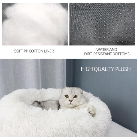 Round Faux Fur Bed