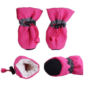 4pcs Waterproof Dog Shoes