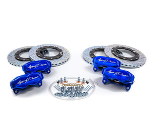 Agency Power Big Brake Kit Front and Rear Blue Ice Maverick X3 Turbo
