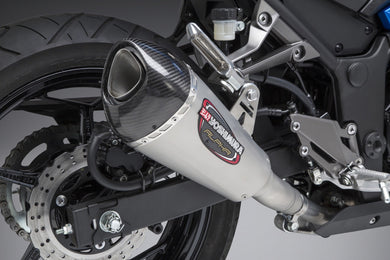 Yoshimura exhaust NINJA 300 2013-17 Street ALPHA T SO SS-SS-CF Works Finish