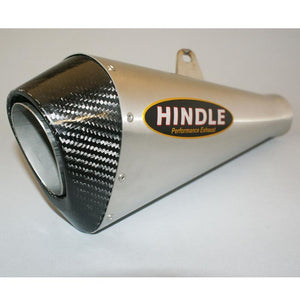Hindle exhaust GROM 2017-2020 Evo Megaphone System Satin SS, W/Carbon Tip