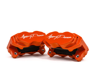 Agency Power Big Brake Kit Front and Rear Orange Maverick X3 Turbo