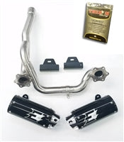 Empire industries Can Am Outlander Max Dual slip on exhaust  with The Bomb Racing tuner