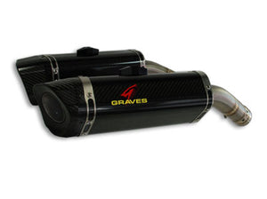 Graves Motorsports LINK R1 Cat Back Slip-on Titanium Exhaust Yamaha R1 2009-2014
