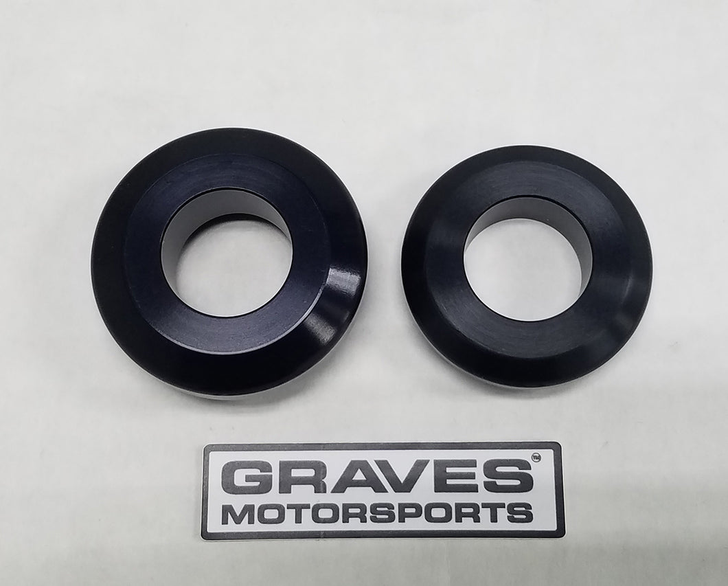 Graves Motorsports WORKS Kawasaki ZX-6R Rear Wheel Captive Spacers Kit