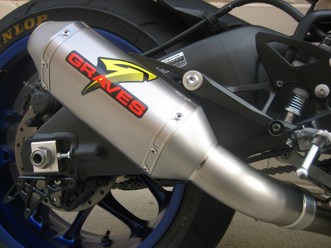 Graves R1 15-19 Cat Eliminator Titanium Exhaust 200mm silencer