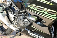 Load image into Gallery viewer, T-REX 2018 - 2019 Kawasaki Ninja 400 No Cut Frame Sliders w/ aluminum inserts