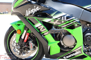 T-rex 11-19 Kawasaki ZX-10R No Cut Frame Front & Rear Axle Sliders Case Covers Spools