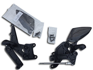 Graves Adjustable Yamaha R3 Rearsets