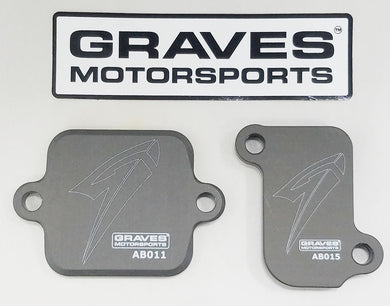 Smog Block Off Plates Graves AB015 for Yamaha FJ-09 & FZ-09 & XSR900 Thru 2018