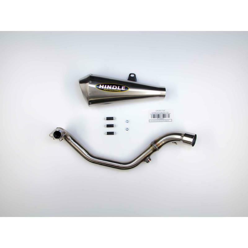 Hindle exhaust full system for GROM 2017-2020 Evo Megaphone System - Satin SS