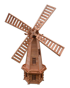 Pendle Wooden Garden Windmill P10 - Height 235cm - Width 80cm - Pendle Windmills