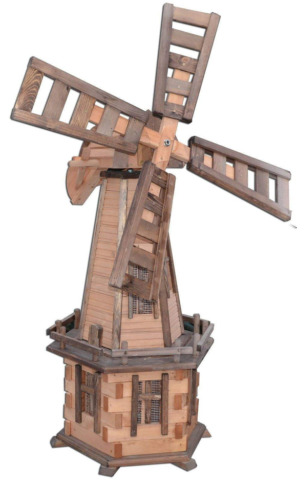 Pendle Wooden Garden Windmill P51 - Height 135cm - Width 55cm - Pendle Windmills