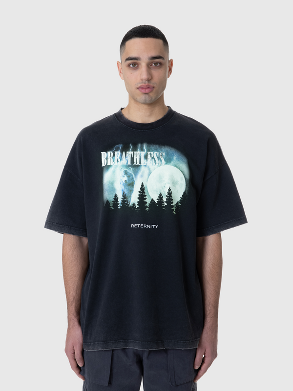 T-SHIRT 'THUNDERSTORM' - WASHED BLACK