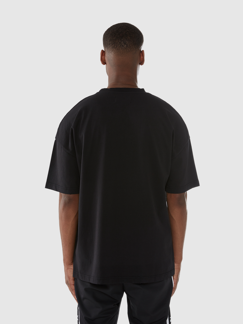 T-SHIRT 'CHASE IN FIRE' - BLACK
