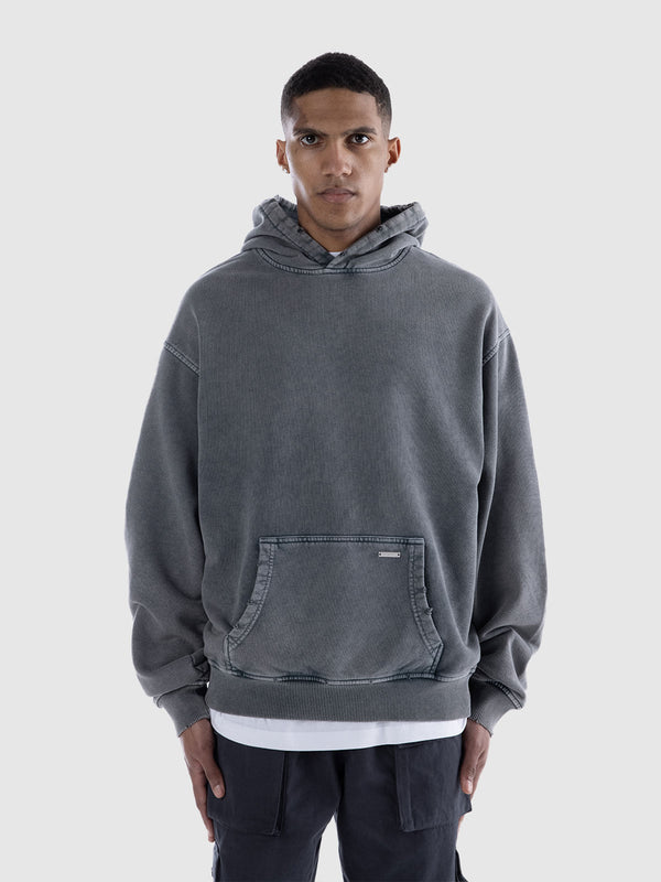 ESSENTIAL HOODIE - WASHED GREY