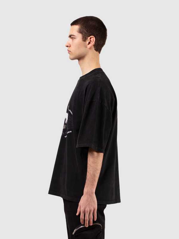 T-SHIRT 'GROW TOGETHER' - WASHED BLACK