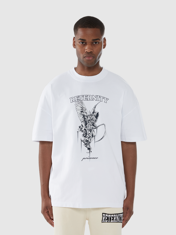 T-SHIRT 'PRISONER' - WHITE