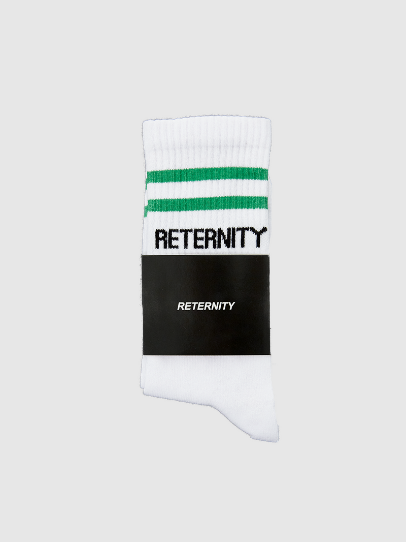 SOCKS - WHITE/GREEN