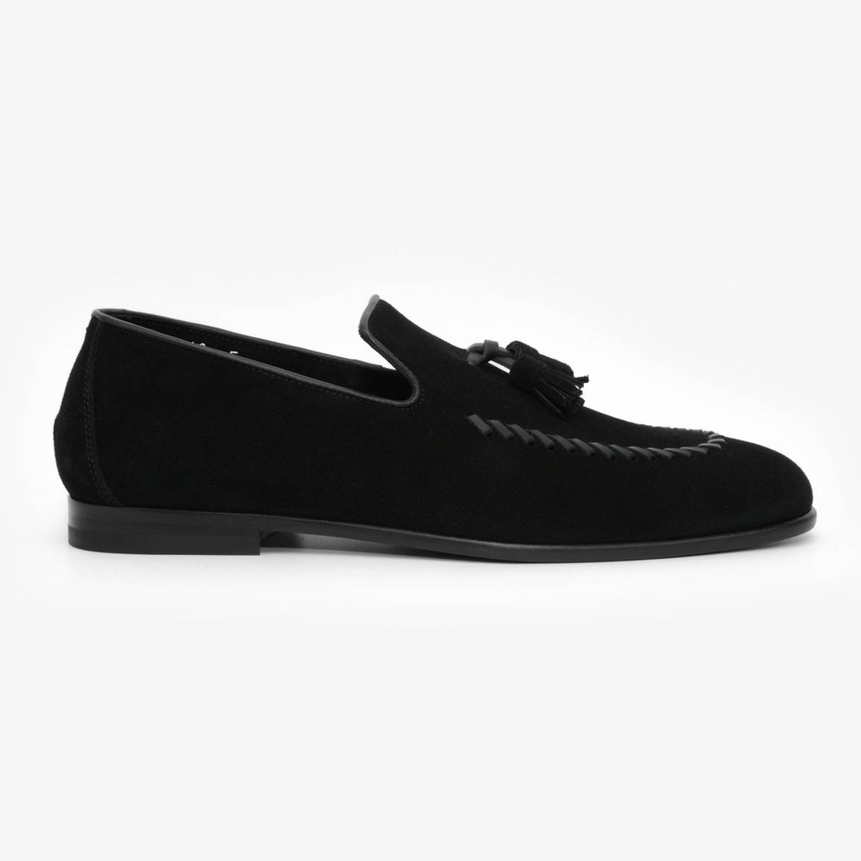 Louis F Suede Black
