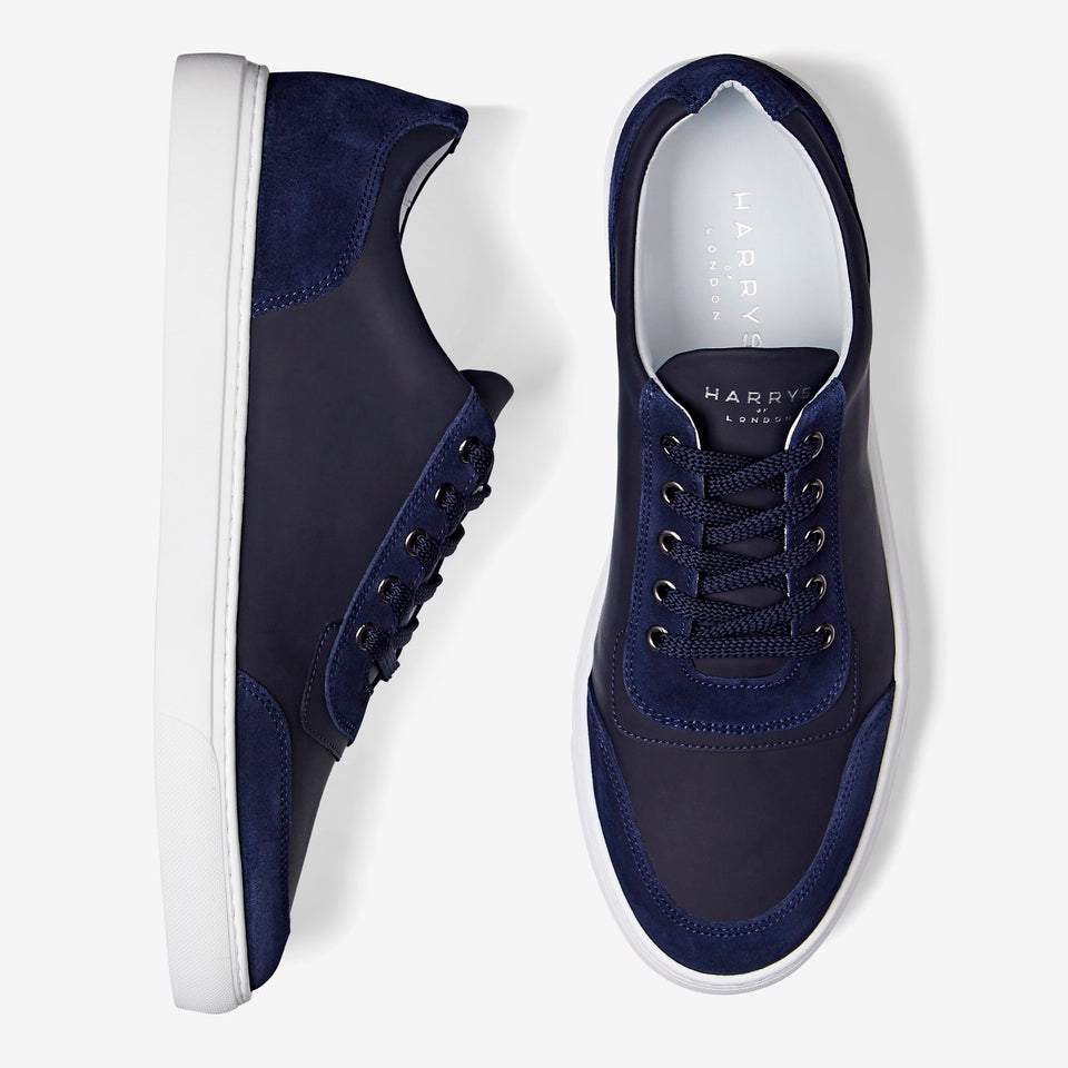 Nimble Tech Leather/Suede Navy