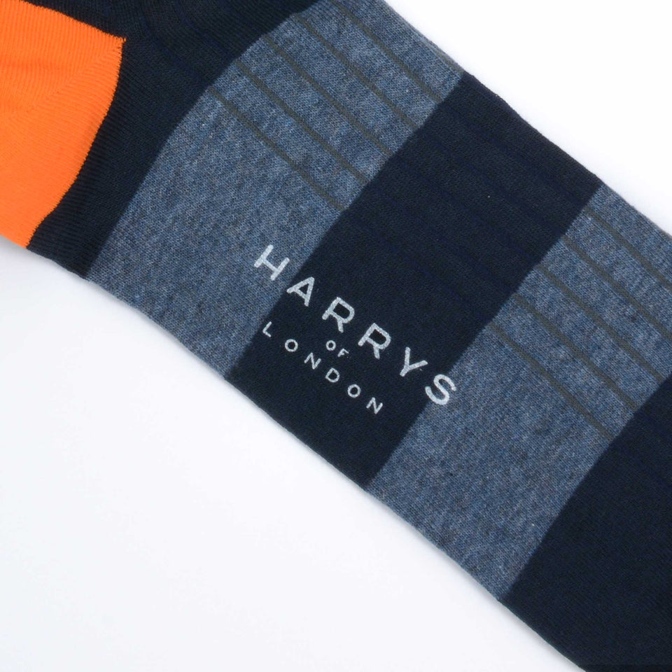 Striped Sock Cotton Indigo/Navy