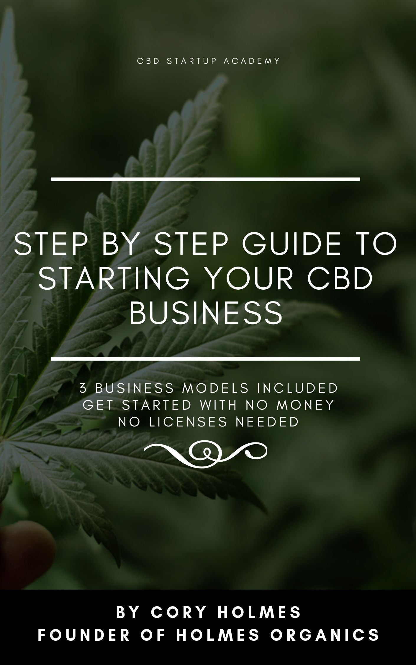 Ebook Only: STEP BY STEP GUIDE TO STARTING YOUR CBD BUSINESS
