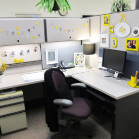 "A wise person once said, ""They can take the cubicle out of your home, but you don't have to let them take your home out of the cubicle."" Okay, maybe no one ever really said that, but it's true nonethele"