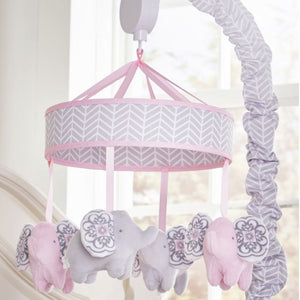 Colorful Elephant Crib Mobile