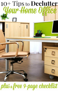 The first step to organizing your home office is to declutter your office