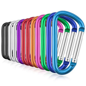 Amazon has this Pack of 24 Aluminum Carabiner Keychain Clips for ONLY $4.29 (Was $8.59)!!!