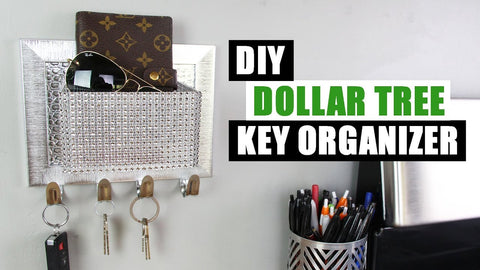 DOLLAR TREE DIY KEY HOOK ORGANIZER | DIY Glam Home Decor by StoreeOfMyLife (2 years ago)