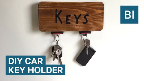 This DIY Seat Belt Key Holder Is For The Ultimate Car Fan by Business Insider (3 years ago)