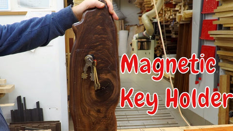 Magnetic key holder with an invisible mount by mtmwood (3 years ago)