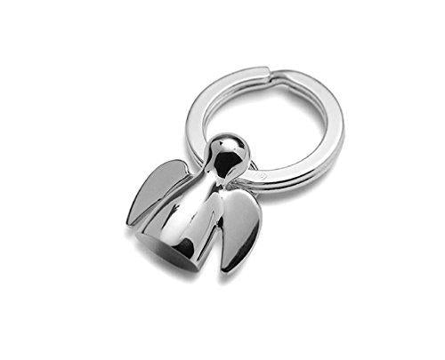 Vanlemn Angel and Dark Elf Metal Keychain Keyring Key Holder Key Hook Stainless Steel Key tag for Men and Women for Couples(Angel)