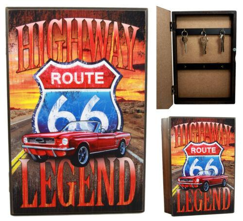 "Ebros Gift Highway Route 66 Legendary Road Journey Safe Book Shaped Multiple Keys Decorative Storage Organizer 11.75""H"