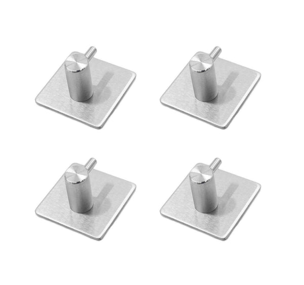 Karcy 4pcs 3M Waterproof Self Adhesive Wall Mounted Hook Made of 304 Stainless Steel